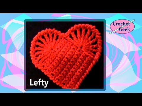 Left Hand Crochet Easy Heart